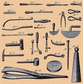 Les outils du bourrelier