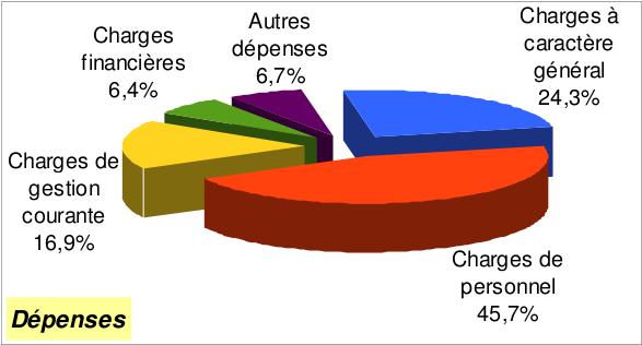 CA 2013 fonct dépenses